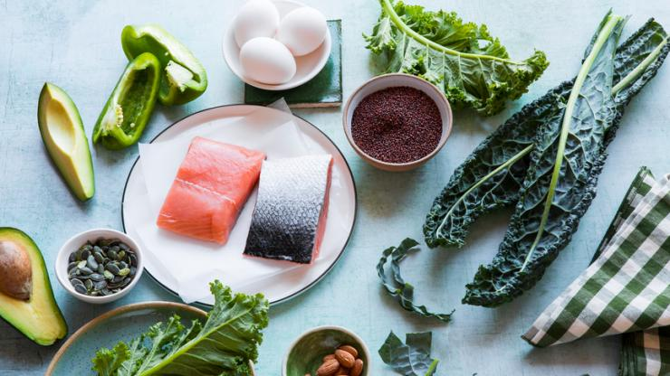 Healthy Clean Food with Salmon