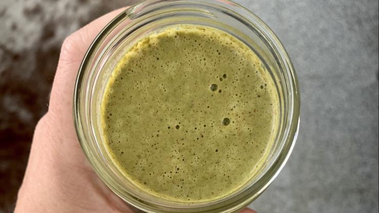 clean green protein smoothie