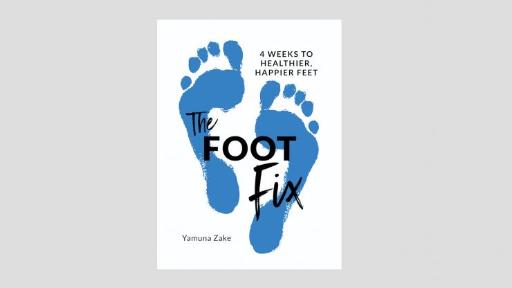 """""""The Foot Fix"""" by Yamuna Zake book cover"""