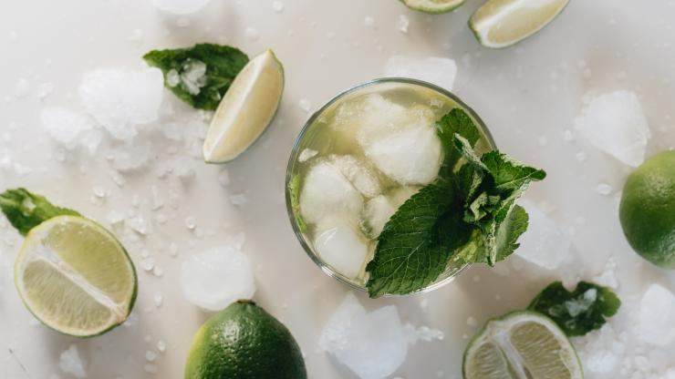 Lime and mint mojito mocktail